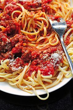 This Spaghetti Sauce Recipe is a classic and so easy to make. You'll have everyone begging for seconds!
