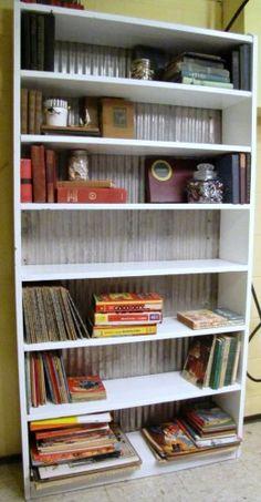 Bookshelf Makeover-would paint shelf black though
