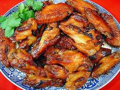 Aloha Chicken Wings- Baked chicken wing appetizers with a fruity pineapple-orange based sauce. Very good! Great for parties and sports get-togethers. From Palatable Pastime