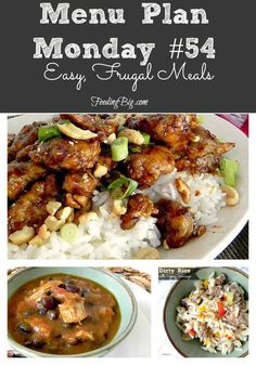Menu Plan Monday #54 - easy, frugal meals Stop by and check out what I am cooking this week. You can even use my menu to feed your family this week.