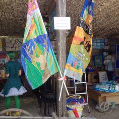 Flags at Rollington Barn