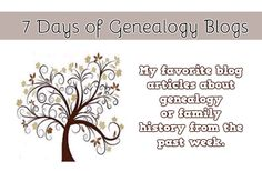 Have you been busy this week? Well, here's what you missed! Here's 7 days of my favorite genealogy blog linksfrom around the web. I was originally going to do this weekly post on Saturdays, but I decided to do it on Fridays #genealogy
