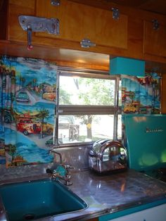 Vintage Travel Trailer Interiors | Lucy Woodie Airstream vintage trailer vintage Airstream GMC motorhome ...