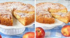 Lyxig äppelkaka Fika, Banana Bread, French Toast, Muffin, Food And Drink, Snacks, Breakfast, Desserts, Breakfast Cafe