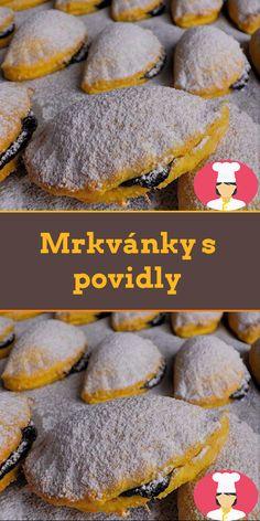Mrkvánky s povidly Hamburger, Bread, Food, Powdered Milk, Sheet Pan, Bakken, Food Food, Simple Recipes, Brot