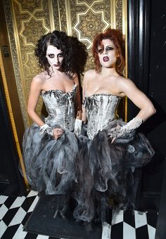 Some scary ghost dancers from Shien Artists at the #BloodBall.  Photo Credit: Getty Images