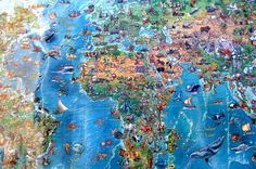 Amazing World mapa del mundo ilustrado para niños