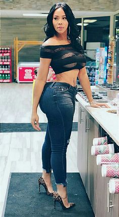 My sexy bbw in damn jeans