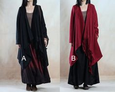 Dos Color Plus Capes Tamaño de lana de moda Señora por DaWanda.com