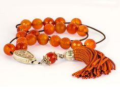 Carnelian Gemstone Greek Worry Beads Komboloi