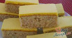 Recept Žloutkové řezy Poppy Cake, Different Cakes, Salty Snacks, Cornbread, Vanilla Cake, Sweet Recipes, Banana Bread, Cheesecake, Food And Drink