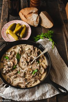 An AH-er said this was the best Best Stroganoff she had ever tasted. Can substitute cooking wine or beef broth for the burgundy. Meat Recipes, Real Food Recipes, Dinner Recipes, Cooking Recipes, Recipies, Best Beef Stroganoff, Chicken Stroganoff, Authentic Beef Stroganoff Recipe, Russian Beef Stroganoff Recipe