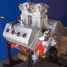 Yes, its a Hemi !! Arias heads on a chevy small block.This would look good under any hood, and - rrrun too!!