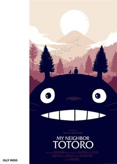My Neighbor Totoro by Olly Moss