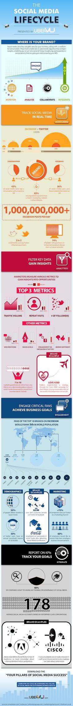 El ciclo de vida en Redes Sociales(infografía)