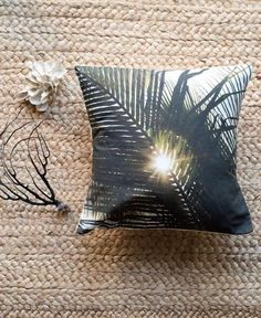 Dreaming Under A Palm Tree. Palm Tree accent pillow by Samba to the Sea.    Palm tree pillow,  sit under palm tree, palm trees, dream under palm tree, accent pillow, beach bungalow, beach chic, jungalow