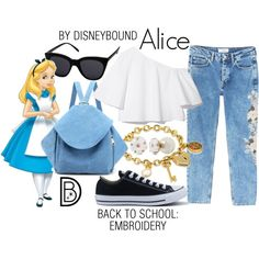 Alice Disneybound- Welcome to the OFFICIAL website! DisneyBound is meant to be inspiration for you to pull together your own outfits which work for your body and wallet whether from your closet or local mall. As to Disney artwork/properties: ©Disney Disney Bound Outfits Casual, Cute Disney Outfits, Disney Themed Outfits, Disneyland Outfits, Disney Dresses, Cute Outfits, Disney Clothes, Disney Character Outfits, Disney Princess Outfits