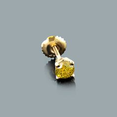 This Mens Yellow Diamond Stud Earring in gold showcases a round diamond and is available in white, yellow and rose gold. Please note: this listing is for 1 earring only (not a pair). Mens Diamond Stud Earrings, Diamond Studs, Gold Studs, Gold Box, Box Chain, Carat Gold, Daydream, Round Diamonds, White Gold
