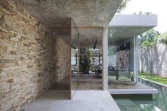 Onatural-flagstone-design with lots of GLASS!