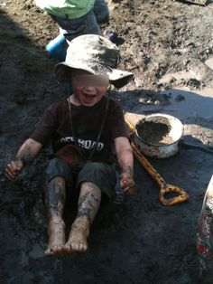 """""""Muddy play"""" Creative and Inspired Play. Wonderful post full of lovely images of muddy play: """"The mud pit is one of my favourite aspects of our playground.  As an early childhood educator I am always amazed and inspired at the creative play that occurs in this sensory area."""" Originally Pinned by Alec Duncan of http://childsplaymusic.com.au/"""