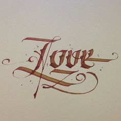 Love #calligraphy #lettering #love #tattoo