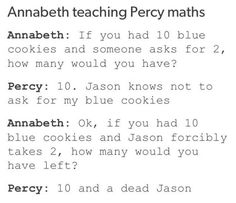 No one takes Percy's blue cookies