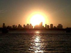Sunset, Biscayne Bay, Miami, Florida