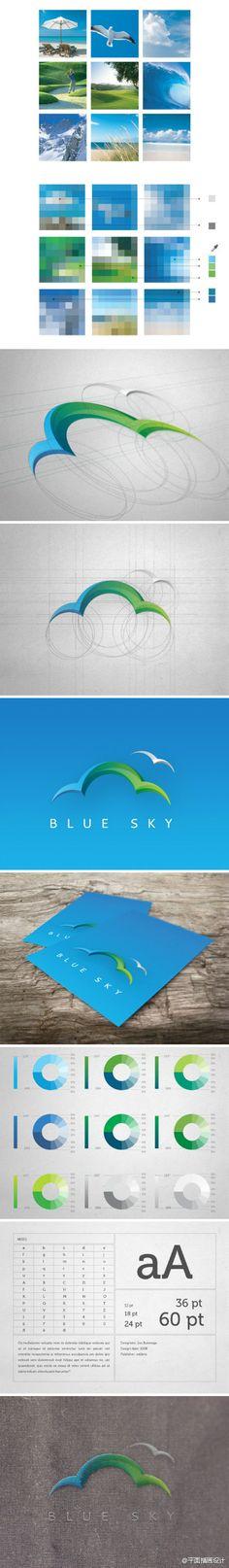 blue sky - logo idea