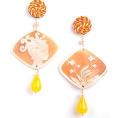 Marine world for our cameo earrings...playful summer! Anna e Alex #annaealex