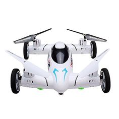 RHH SY X25 24G RC Quadcopter Drone Flying Fly Car Land  Sky 2 in 1 UFO RTF Mode 2 White without Camera -- For more information, visit image link.