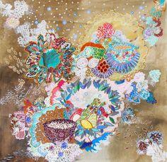 """Saatchi Online Artist: Lia Porto; Acrylic, 2012, Painting """"Si todo indica que es otoño, basmati y lentejas"""""""