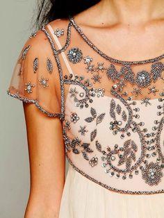 Chiffon Embroidered Dress