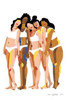 Take Care Of Your Body, Loving Your Body, Corps Normal, Magazin Design, Body Shaming, Woman Illustration, Feminist Art, Aesthetic Drawing, Grafik Design