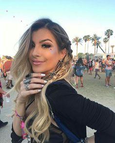 Penteado da Nah Cardoso no Coachella 2017