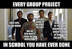 Group projects are like The Hangover movie