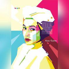 #hanatajima in #wpap #wedhaism #wedhapopartportrait #vector #ilustrasi #potret #wajah #warna #pop #popart #desain #coreldraw #smile #gift #kado #art #instamkssr #instaart #instadaily #like #indonesia #makassar #nyols21