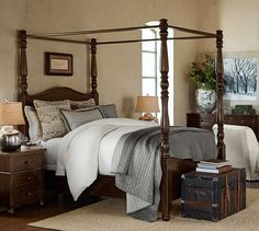Love the Bedding, Cortona Canopy Bed & Dresser Set | Pottery Barn