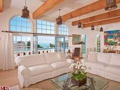 Living Room: Pierce Brosnan's Malibu Home