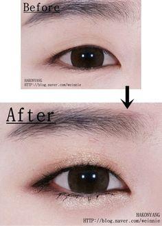 (notitle) - make up Asian Make Up, Korean Make Up, Eye Make Up, Monolid Eyes, Monolid Makeup, Cute Eye Makeup, Hair Makeup, Makeup Trends, Korean Makeup Tips