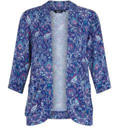 Teens Blue Paisley Print Blazer