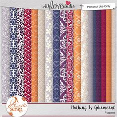 Nothing Is Ephemeral digital scrapbooking papers from Aurelie Scraps. This pack coordinates with the May 2016 Lovely Colors at With love Studio. You can mix and match this with all the other Lovely Color Packs to create gorgeous digital and hybrid scrapbooking layouts.