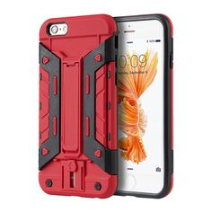 DW Transformer Wallet w/ Switch iPhone 6/6S Plus Case - Red