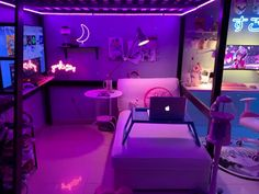 Cute Bedroom Decor, Room Design Bedroom, Room Ideas Bedroom, Cute Room Ideas, Video Game Rooms, Gaming Room Setup, Kawaii Room, Game Room Design, Indie Room
