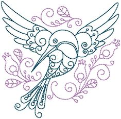 Hummingbird #5 Hand Embroidery Pattern | Craftsy