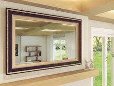 TV Mirror by FrameMyTV - Dielectric TV mirror / OptiClear Electric Mirror