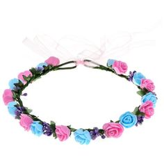 RoyaLily Boho Flower Hair Wreath Headband Crown Floral Garland for... ($6.99) ❤ liked on Polyvore featuring accessories, hair accessories, boho hair accessories, crown headband, head wrap headband, bohemian headbands and boho flower crown