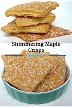 Shimmering Maple Crisps-  The crunch and the flakiness of  puff pastry in an easy to roll out and cut cookie  dough! The warm caramelized sugar flavor infused with buttery richness is pure cookie comfort.  The Monday Box