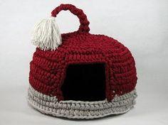 crochet cat house