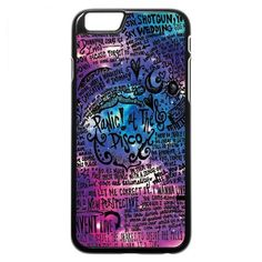 Panic At The Disco iPhone SE Case (lyric scrawl) ($97) ❤ liked on Polyvore featuring accessories and tech accessories