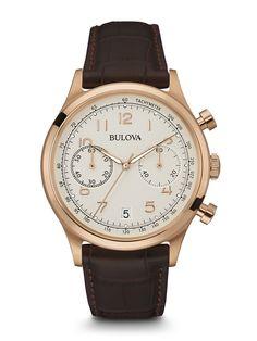 FREE US SHIPPING. Authentic Bulova 97B148 Men's Watch Chronograph Vintage Grey Dial Rose-Gold Case. Authorized Bulova Retailer.